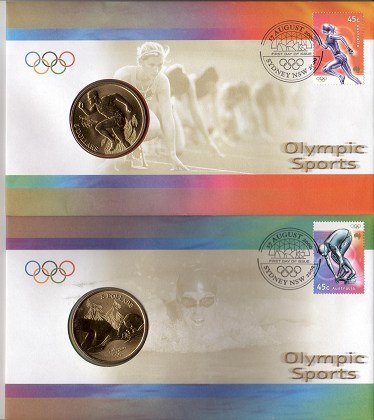 PNC Australia 2012 London Olympic Games 3 X Perth Mint $1 Coins Limited Ed 10000